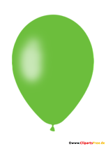 Green Air Balloon PNG Clipart with Transparent Background