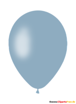 Light Blue Air Balloon PNG Clipart with Transparent Background