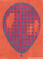 Luftballo Pop Art Picture, Clipart, Illustration