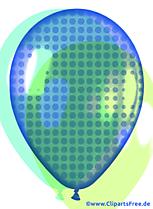 Ballon bleu dans un style pop art