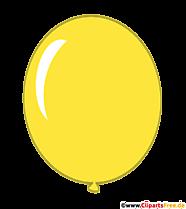 Balloon yellow clipart transparent