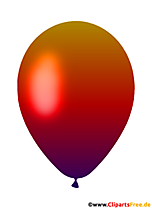 Gradient Color Balloon Clipart Free