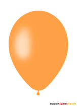 Pomarańczowy balon clipart, ilustracja, obraz