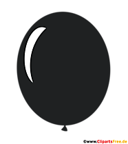 Balon czarny komiks ilustracja przezroczysty