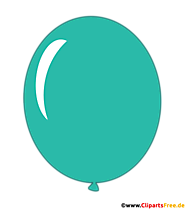 Balon turkusowy clipart przezroczysty