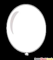 Balon biały clipart przezroczysty