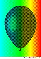 Balon pożądania w kolorach tęczy ilustracja
