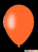 Pomarańczowy balon clipart PNG z przezroczystym tłem