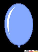 Owalny balon niebieski PNG Clipart przezroczysty