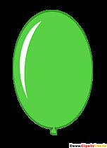 Owalny balon w kolorze zielonym komiks clipart przezroczysty
