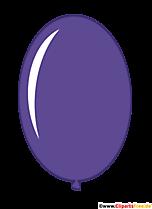 Owalny balon w kolorze fioletowym komiks clipart przezroczysty