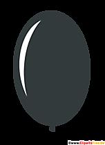 Owalny balon w kolorze czarnym komiks clipart przezroczysty