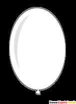 Owalny balon w białym komiksie clipart przezroczysty