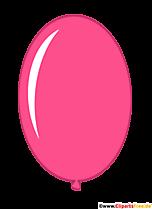 Owalny balon różowy ilustracja
