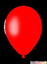 Czerwony balon powietrzny PNG Clipart z przezroczystym tłem