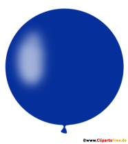 Okrągły niebieski balon PNG Clipart, ilustracja, obraz