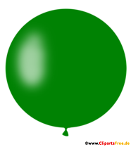 Okrągły balon w ciemnozielonej ilustracji, obraz, clipart
