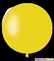 Okrągły żółty balon clipart, ilustracja, obraz