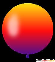 Okrągły balon w kolorach gradientu od ciemnofioletowego do pomarańczowego ilustracji