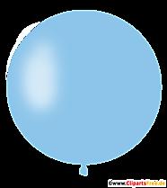 Ballon à air rond en clipart bleu ciel, illustration, photo