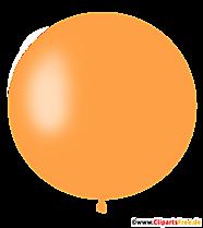 Ballon orange rond Clipart, Illustration, Image