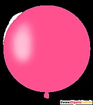Ballon rond rose Clipart, Illustration, Image