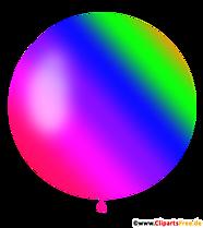 Ballon rond aux couleurs de l'arc-en-ciel clipart, illustration, image