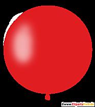 Ballon rond en clipart rouge, illustration, photo