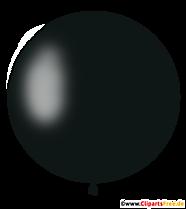 Ballon rond en clipart noir, illustration, photo