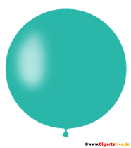 Ballon à air rond en clipart turquoise, illustration, photo