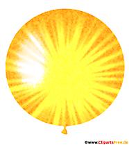 Ballon rond avec une forte illustration de soleil
