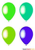 Image pop art quatre ballons