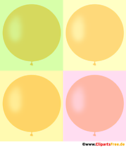 Quatre ballons ronds en illustration gratuite de couleurs vintage