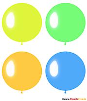 Image pop art de quatre ballons ronds