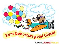 Lustige Geburtstagswünsche als Cliparts, Karten, Bilder