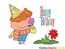 Originelle Geburtstagswünsche als CLipart lustig, witzig, kostenlos