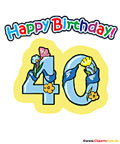 40 Happy Birthday T-Shirt Design zum Downloaden kostenlos