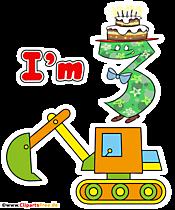 Ich bin drei Jahre alt T-Shirt Design 4500 x 5400 px PNG Illustration