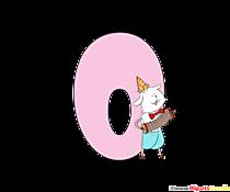 Modello del fumetto numero 0 (zero) per la stampa
