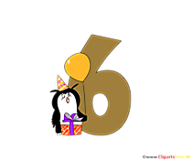 Modello del fumetto numero 6 (sei) per il design di t-shirt