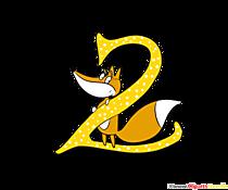 Modello di compleanno numero 2 per il design di t-shirt
