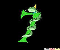 Modello di compleanno numero 7 da stampare