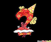 Divertente numero 2 da stampare per il compleanno
