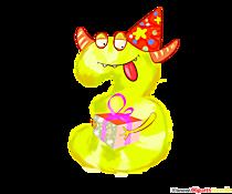 Monster clipart 3 (trei) șablon amuzant pentru ziua de naștere