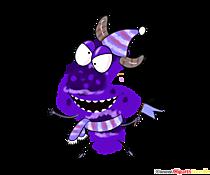 Monster Clipart 4 (patru) numere viclene pentru ziua de naștere