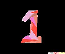 Imagine numărul șablonului 1 (una) pentru imprimare la rezoluție înaltă