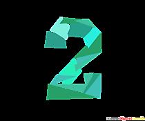 Șablon numărul 2 (două) - numărați imagini pentru imprimare