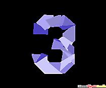 Șablon numărul 3 (trei) numere clipart