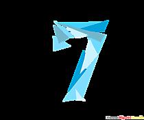Șablon numărul 7 (șapte) număr norocos pentru tipărire