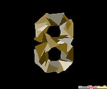 Șablon numărul 8 (opt) - șablon imprimabil pentru școală